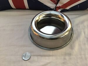 Travel Non No Spill Pet Dog Water Bowl Stainless Steel