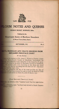 1913 & 1914 Pilgrim Notes and Queries Vol I & II Mayflower Descendants Genealogy