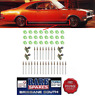 HOLDEN HT MONARO GTS & KINGSWOOD SILL MOULDING CLIP SET (moulds not included)