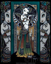 Tribal Fusion Fairy Belly Dancer Angel Melita Moon Myka Jelina Signed Art Print