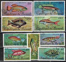 Burundy Fauna African Sealife Marine Fish set 1972