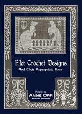 Anne Orr #8 c.1916 Vintage Filet Crochet Designs and Patterns REPRO Soft Cover