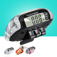 LCD Digital Step Pedometer Walking Calorie Tracker Distance Run Belt Clip