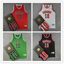 Slam Dunk Shohoku Basketball Replica Jersey NO.10 Sakuragi Costume Unsex Top