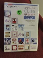 Creating Keepsakes Creative Clips And Font Cd For Winter Memories - New