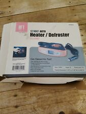 New 12 Volt Dc Auto Heater Defroster with Light Portable Car Cooler / Heater