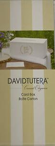 David Tutera Casual Elegance Wedding Special Occasion Card Box White Wood Chic