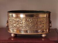 Victorian Brass Aesthetic Movement Planter Jardiniere Dated 1873 Arts & Crafts