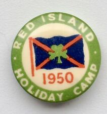 More details for 1950 red island holiday camp tin badge.