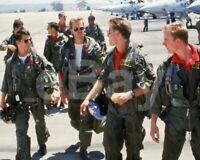 Top Gun (1986) Tom Cruise, Anthony Edwards, Whip Hubley, Barry Tubb 10x8 Photo