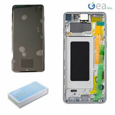 Display LCD Touch Screen + Frame Originale SAMSUNG Per Galaxy S10 SM-G973 Bianco