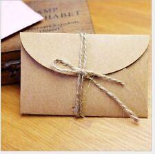 10Pcs Lovely Handmade Mini Brown Kraft Paper Event Party Envelopes 9x6cm