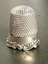 Antique Ketcham & McDougall Sterling Silver Thimble  Louis XV Scroll Rim C 1890s
