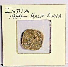 1954 INDIA HALF ANNA