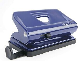 Rapesco Office Paper Hole Punch A4 A5 A6 Desk Metal Puncher 12 Sheet Capacity