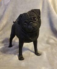 Danbury Mint *Playful Black Pug* Sculpture/Figurine *Retired*