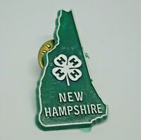New Hampshire 4-H shamrock green Vintage Lapel Pin