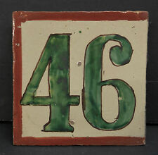 Mexican Vintage House Number Tile 46