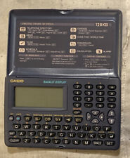 Vintage Casio Digital Diary 128kb SF-3905S *NEW BATTERIES *CLEANED & TESTED *EX+