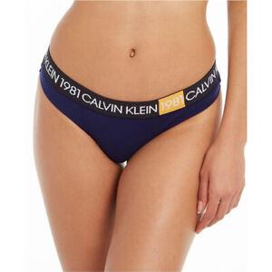Calvin Klein Women's 1981 Bold Cotton Thong Panty