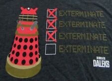"Dr. Who & The Daleks ""Exterminate"" Science Fiction Black Ss T Shirt Size M"