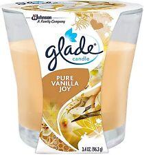 GLADE Candle Air Freshener, Pure Vanilla Joy 3.40 oz (Pack of 2)