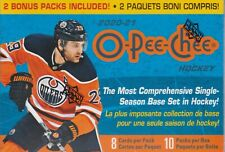 2020-21 Upper Deck O-Pee-Chee sealed blaster box 8 packs 8 NHL cards 2 bonus pk