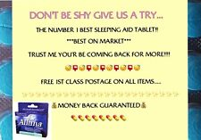 30 x 7.5mg Very Strong Relaxing Blue Sleeping Aid Tablets 😴 BEST ON MARKET!!!