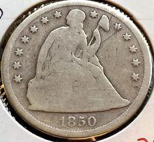 1850 O Seated Liberty Dollar One Dollar $1 Rare Type Coin Circulated #12049