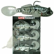 """New Live Target Goby Paddle Tail Lure Fishing - 3-Pack, 3-5/8""""   fr"""