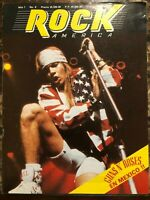 ROCK AMERICA MEXICAN MAGAZINE No 8 1992 GUNS N' ROSES IN MEXICO / MOTLEY CRUE