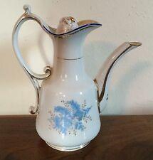 Antique Porcelain Tea Turkish Coffee Pot 19th century Paris Cornflower