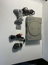 Sony Play Station 1  SCPH-7501 Gray Console W/ Controller OEM Cords Memory Card