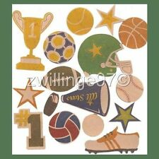 Sports Scrapbooking Chipboard Accents