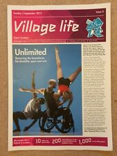 LONDON 2012 GENUINE VILLAGE LIFE NEWSPAPER ISSUE 5 PARALYMPIC GAMES 2 SEP *RARE*