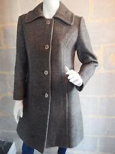 Superbe manteau VINTAGE gris chiné laine mélangé Oré Nantes