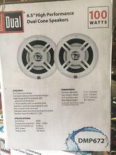 """DMP672 Two 6.5"""" Water Resistant Dual Cone High Performance Marine Speak 100 Watt"""