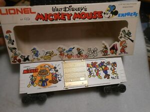 Unused 1977 Lionel Mickey Mouse Anniversary Box Car in Box 0 Gauge 6-9672