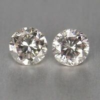 Round Brilliant Cut 0.12CT Natural White Loose Diamond Pair With Certificate