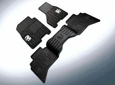 2009-2012 DODGE RAM CREW CAB RUBBER SLUSH FLOOR MATS FRONT & REAR SET MOPAR OEM
