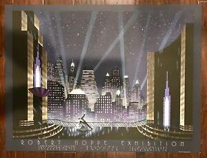"Robert Hoppe ""City For Conquest"" - 1988 Authentic Lithograph Art Deco"