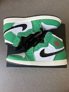 "Nike Air Jordan 1 High OG Preschool (PS) ""Lucky Green"" SIZE 2Y CU0449 300"