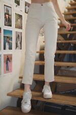 cbae1e5e0c Brandy Melville Beige Alta Cintura Algodón Jane Cargo Pantalones Nwt TALLA S