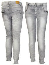 Karostar by Lexxury Boyfriend Pailletten Damenjeans Hose Chino Röhrejeans Jeans