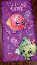 "Shopkins Purple Girls Twin Sleeping Bag 30x54"" 100% Polyester"