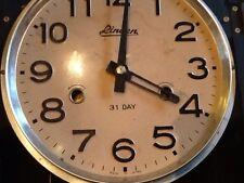 Linden 31 Day Wind Up Pendulum Wall Clock No. 8051- Vintage