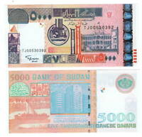 UNC SUDAN 5000 Dinars (2002) P-63
