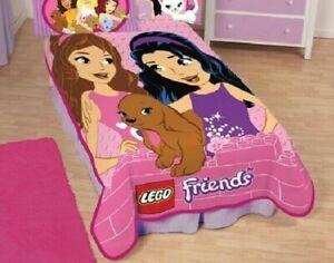 """Lego Friends Twin Size Blanket  62"""" x 90"""""""