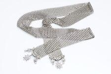 Christian Dior Metal Mesh Star Crystal Scarf Necklace