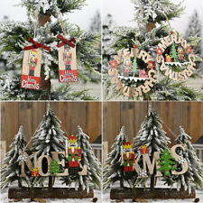 Christmas Tree Wooden Nutcracker Soldier Ornaments Xmas Party Hanging Decoration